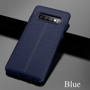 Luxury Ultra Thin Shockproof Leather Soft TPU Case For Samsung S10 S10Plus S10E Note 9 8 S9 S8/Plus S7/Edge