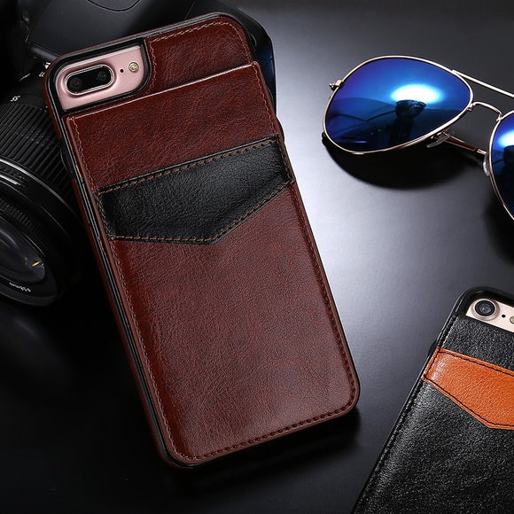 Luxury Vertical Flip Wallet PU Leather Case For iPhone X XR XS MAX 8 7 6S 6/Plus
