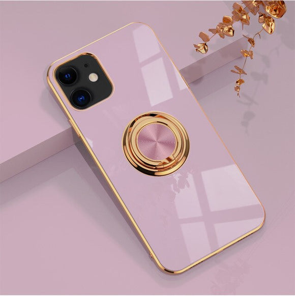 Luxury Magnetic Bracket Plating Case For iPhone 11/Pro/Max X XR XS MAX 8 7 6S 6/Plus SE2020