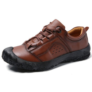 2019 Fashion Men's Handmade Leather Casual Shoes