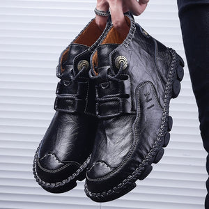 Vintage British Style Men's Casual Ankle Boots