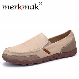 Fashion Men's Breathable Canvas Slip On Flat Shoes
