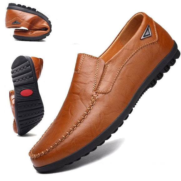 Hizada 2020 Fashion New Soft Comfortable Leather Moccasins Casual Shoes