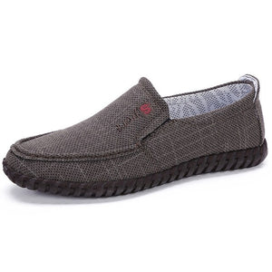 Fashion Men's Breathable Soft Canvas Slip On Casual Shoes