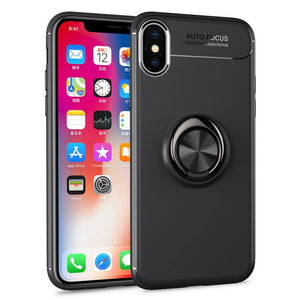 Ultra Slim Metal Magnetic Silicone holder Cover For iPhone X XR XS MAX 87 6S 6/Plus