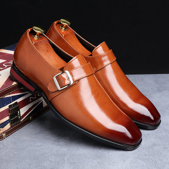 Hizada Fashion British Style Men's Slip On Dress Formal Shoes
