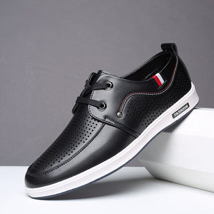 New Men's Hollow Out Leather Casual Shoes