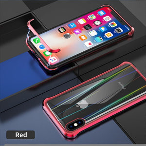 Frameless Metal Magnetic Case For iPhone