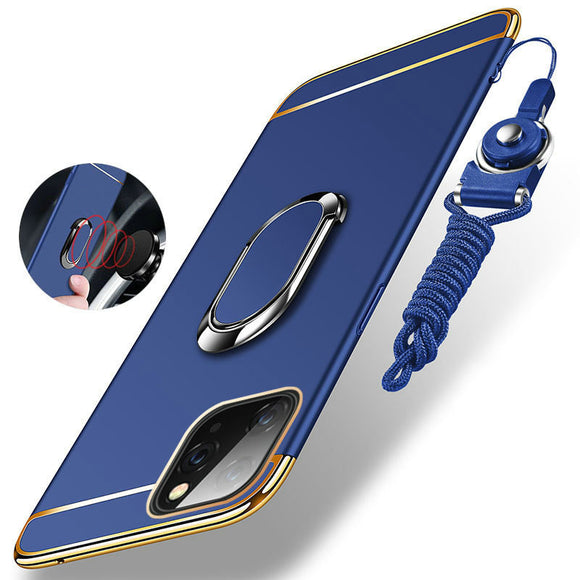 Hizada Luxury Ultra Thin 3 IN 1 Plating Magnetic Ring Holder Case For iPhone11/Pro/Max X XR XS Max 8 7 6S 6/Plus With FREE Strap
