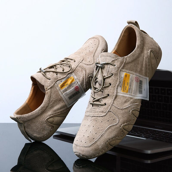 Plus Size High Quality Suede Leather Men's Lace-Up Shoes