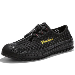 Hizada Men Quick Drying Mesh Outdoor Breathable Water Casual Shoes