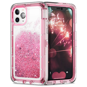 Bling Glitter Shockproof Quicksand Liquid Case For iPhone 11/Pro/Max X XR XS MAX 8 7 6S 6/Plus