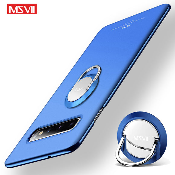 Luxury Shockproof Ultra Slim Matte Magnetic Ring Holder Case For Samsung S10 S10Plus S10E S9 S8/Plus