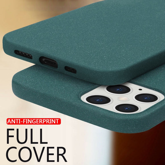 Luxury Sandstone Matte Slim Soft Silicone Case For iPhone 12 11/Pro/Max X XR XS MAX 8 7 6S 6/Plus