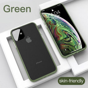 Luxury Ultra Thin Shockproof Matte Transparent Case For iPhone 11/Pro/Max 8 7 6S 6/Plus