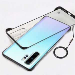 Hizada Fashion Framless Matte Case With Free Ring For Samsung Note 10/Plus/9/8 S20/Plus/Ultra S10/Plus/E S9 S8/Plus
