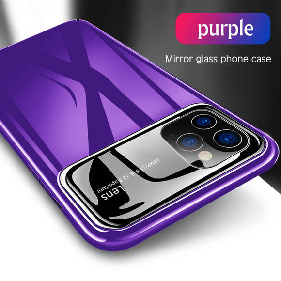 Fashion Ultra Thin Mirror Glass Case For iPhone 11/Pro/Max X XR XS MAX 8 7/Plus