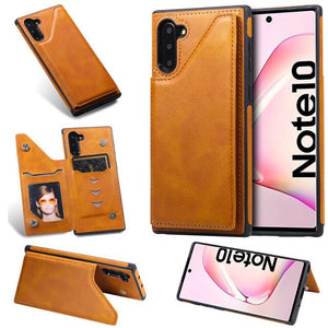 Luxury PU Leather Wallet Flip Stand Cases For Samsung Note 10/Plus S10/Plus/E Note 9/8 S9 S8/Plus