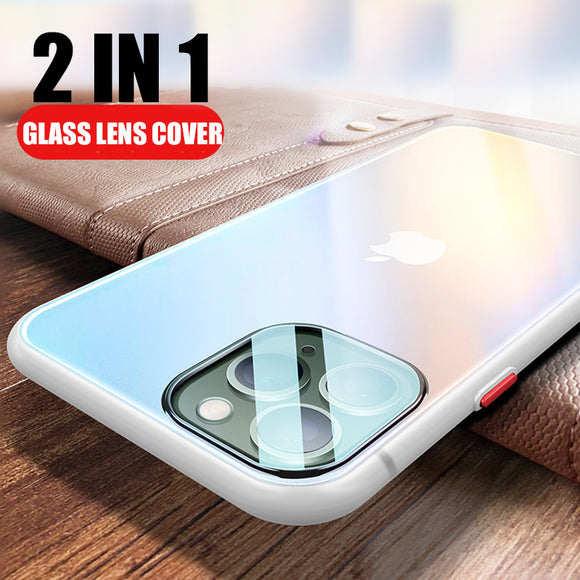 Luxury Ultra Thin Matte Case + Glass Camera Protector For iPhone 11/Pro/Max X XR XS MAX 8 7 6S 6/Plus