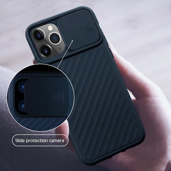 Fashion Shockproof Slider Camera Privacy Silicone Case For iPhone 11/Pro/Max X XR XS MAX 8 7 6S 6/Plus