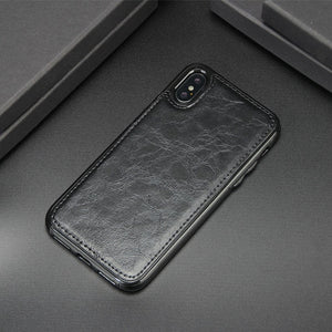 Luxury PU Leather Magnetic Absorption Back Cover For iPhone X XR XS MAX 8 7 6S 6/Plus