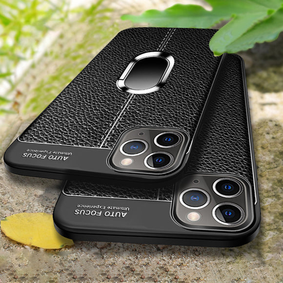 Luxury Litchi Pattern Silicone Magnetic Car Holder Case For iPhone 11/Pro/Max X/XR/XS/XS Max 8 7 6S 6/Plus With FREE Strap