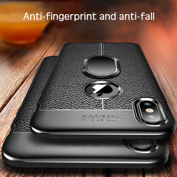 Hizada New Litchi Pattern Silicone Magnetic Car Holder Case For iPhone 11/Pro/Max X/XR/XS/XS Max 8 7 6S 6/Plus With FREE Strap