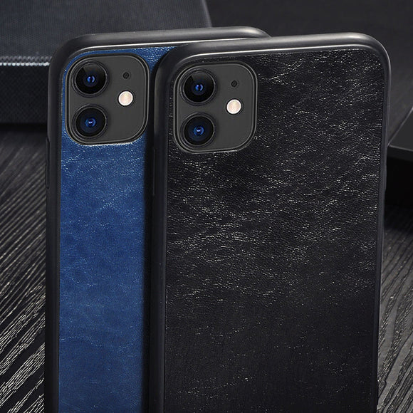Luxury PU Leather Soft TPU Solid Color Case iPhone 11/Pro/Max X XR XS MAX 8 7 6S 6/Plus