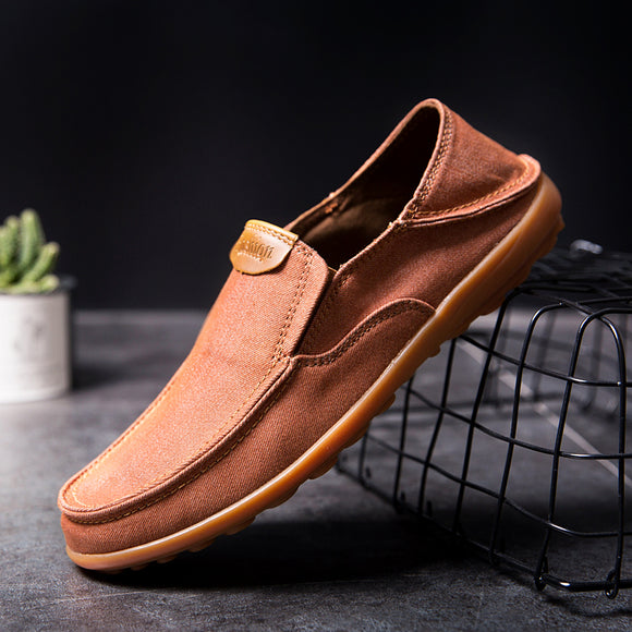 Fashion Men's Soft Comfortable Breathable Canvas Casual Shoes