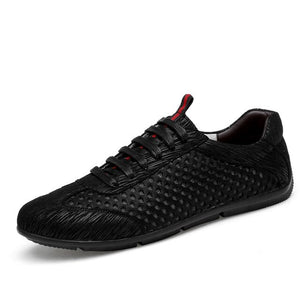 Hizada New Men's Mesh Breathable Lace Up Casual Shoes