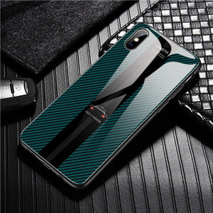 Phone Case - Fashion Car Tempered Glass Phone Case For iPhone X XR XS XS Max 8 7 6S 6/Plus