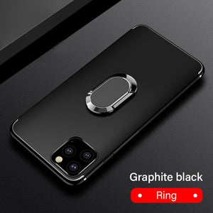 Hizada Ultra Thin Magnetic Holder Silicone Case For iPhone 11/Pro/Max X XR XS MAX 8 7 6S 6/Plus