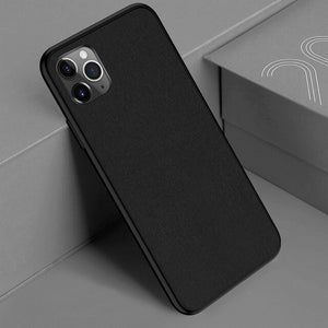 Utra Slim Canvas Soft Silicone Case For iPhone 11/Pro/Max X XR XS MAX 8 7 6S 6/Plus