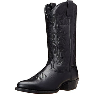 Fashion Men's Autumn Winter Embroidered Western Cowboy Boots