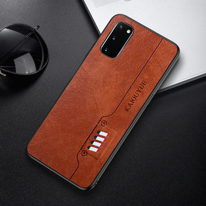 Hizada Luxury Shockproof Leather Soft Silicone Case For Samsung