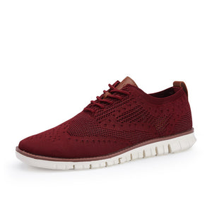 Fashion Men's Casual Knitted Mesh Breathable Shoes