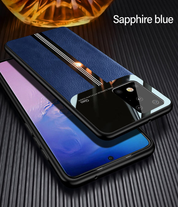 Hizada 2020 New Arrival Luxury Leather Silicone Case For Samsung S20/Ultra/Plus S10/Plus/E S9/S8/Plus Note 9 8