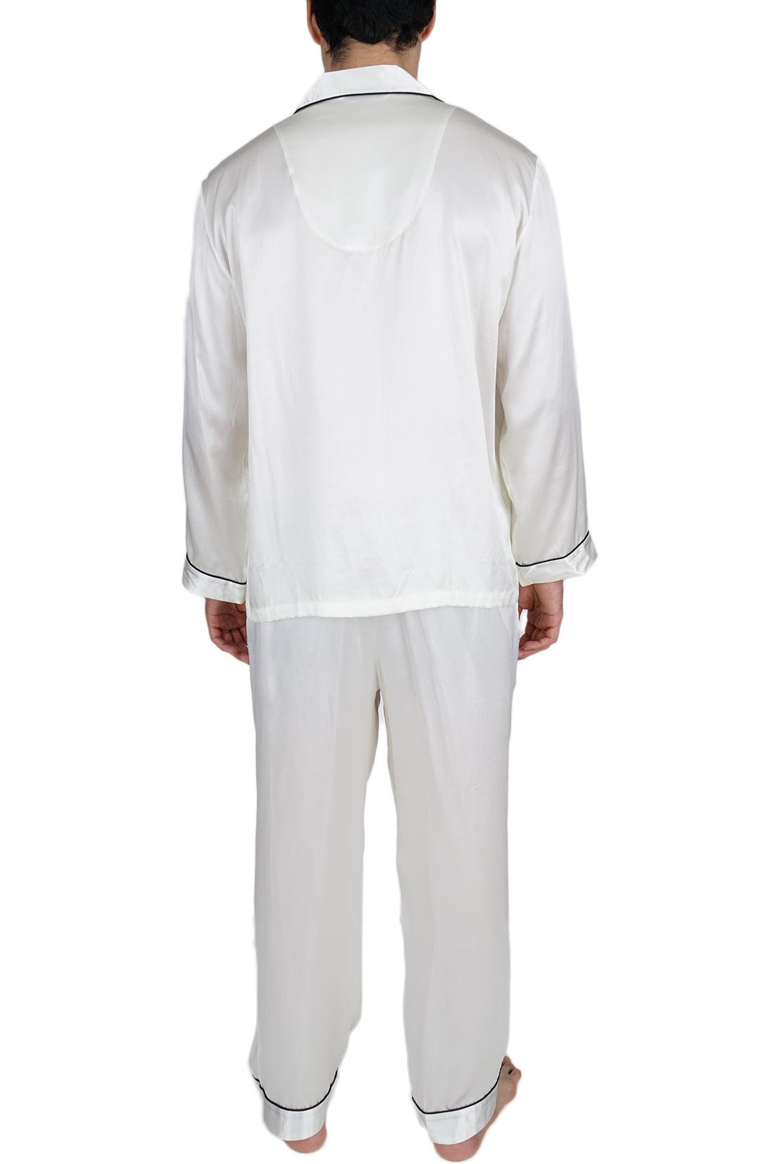 Men's Silk Sleepwear 100% Silk Pajamas Set -OSCAR ROSSA