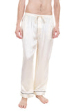 Men's Luxury Silk Sleepwear 100% Silk Pajamas Pants - Oscar Rossa