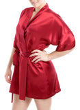 Women's Silk Sleepwear 100% Silk Short Robe