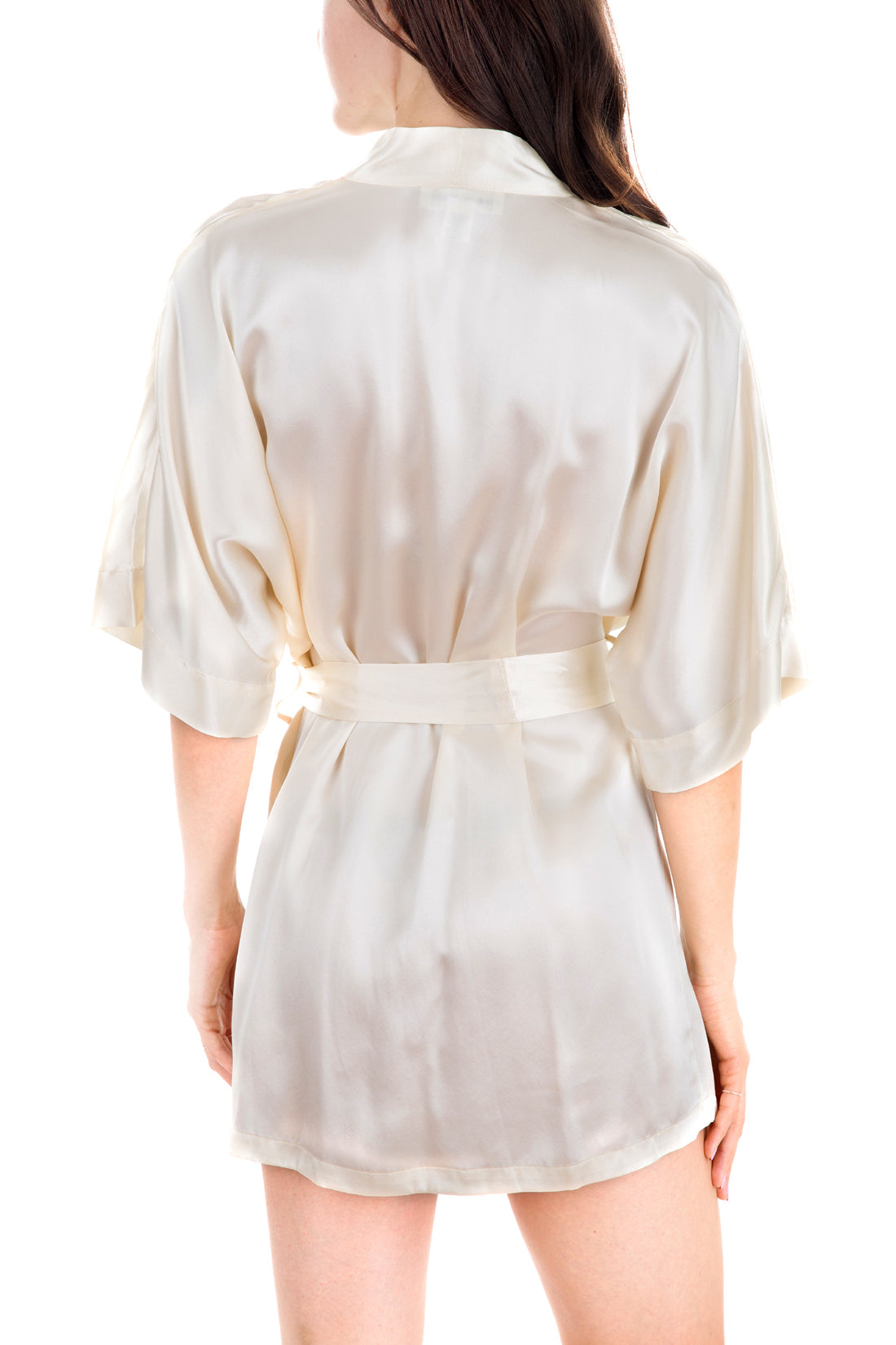 Women's Silk Sleepwear 100% Silk Short Robe -OSCAR ROSSA