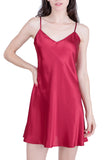 Women's Luxury Silk Sleepwear 100% Silk Slip Chemise Babydoll Lingerie Nightgown - Oscar Rossa