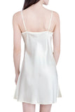 Women's Luxury Silk Sleepwear 100% Silk Slip Chemise Babydoll Lingerie Nightgown