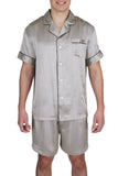 Oscar Rossa 100%Silk Sleepwear Men's Short Silk Pajamas Set -OSCAR ROSSA