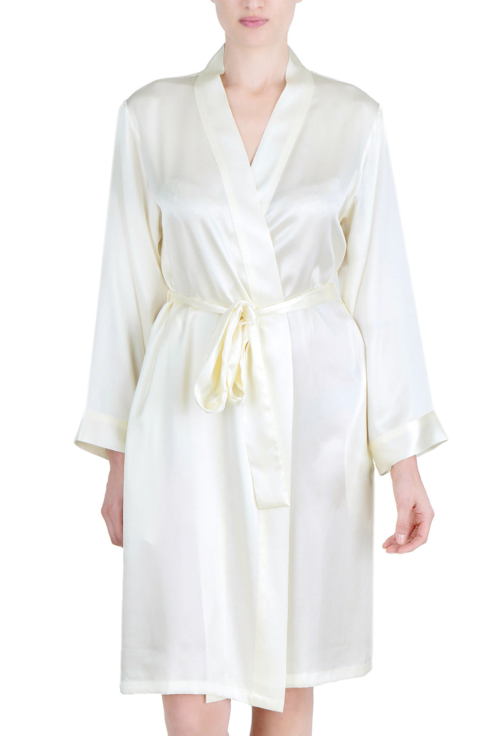 Women's Luxury Silk Sleepwear 100% Silk Robe Kimono -OSCAR ROSSA