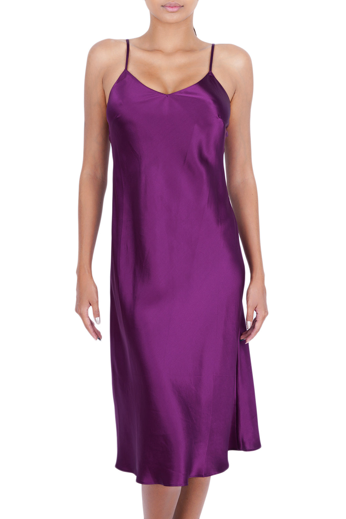 Women's Luxury Silk Sleepwear 100% Silk Full Slip Chemise Lingerie Nightgown -OSCAR ROSSA