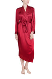 Women's Luxury Silk Sleepwear 100%Silk Long Robe Kimono - Oscar Rossa