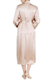 Women's Luxury Silk Sleepwear 100%Silk Long Robe Kimono -OSCAR ROSSA