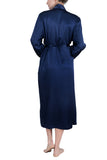 Women's Silk Sleepwear 100% Silk Long Robe -OSCAR ROSSA