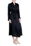 Women's Luxury Silk Sleepwear 100%Silk Long Robe Kimono